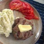 mat biff blomkålsmos tomat smör