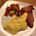 gatwick breakfast egg omelette bacon tomato