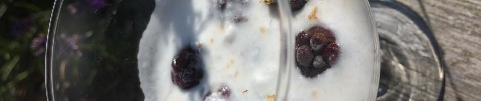 glass bär grädde kokosgrädde