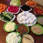 dip snacks grönsaksstavar nötter mellanmål