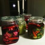 fermenterad mat surkål syrade grönsaker pickles